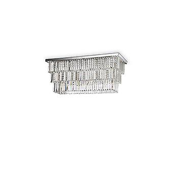 Chrome Cristallo Soffitto Luce Martinez 6 Lampadine