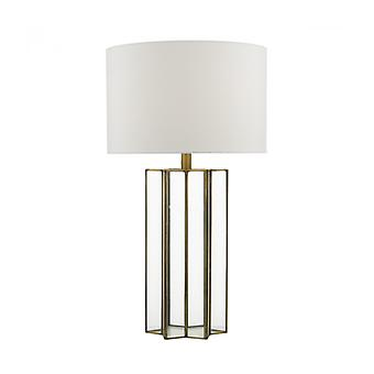 Osuna Table Lamp Natural Brass And Glass 1 Bulb