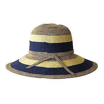 Jacaru 1752 striped wide brim hat