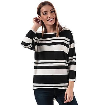 Women-apos;s Only Elcos Stripe Jersey Top en noir