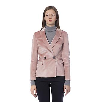 Peserico Rosa Pink Elegant Double Breasted Blazer