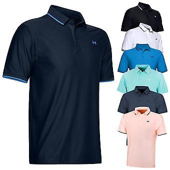 Under Armour Mens 2020 Playoff Pique Vocht Wicking Quick Dry Golf Polo Shirt