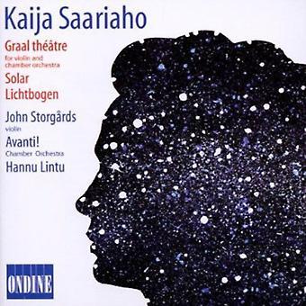 K. Saariaho - Kaija Saariaho: Graal th  Tre: Solar; Lichtbogen [CD] USA import