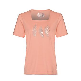 TIGI Coral Feather Embroidery Top