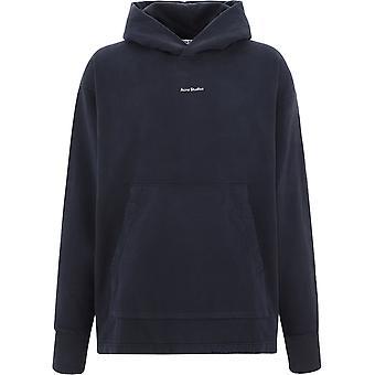 Acne Studios Bi0079black Män & apos, svart bomull sweatshirt