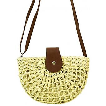 Woven Raffia Saddle Bag