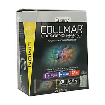 Collmar Magnesium plakt citroen smaak 20 eenheden
