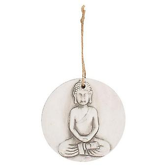 Something Different Round Terracotta Buddha Plaque