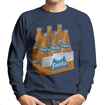 Camisola dos homens da caixa de garrafa de Fanta retro 1960