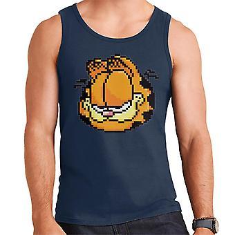 Garfield pixelated glimlach mannen ' s vest