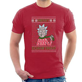 Rick and Morty Christmas Merry Schwiftmas Men's T-Shirt