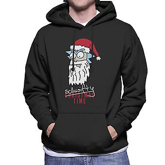 Rick en Morty Santa Rick schwifty tijd mannen ' s Hooded Sweatshirt