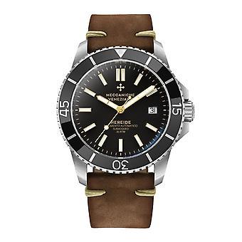 Meccaniche Veneziane 1302002 Nereide Automatic Brown Leather Wristwatch