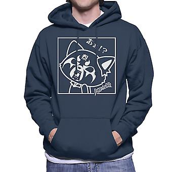 Aggretsuko Retsuko Rocking Rage Black And White Men's Hooded Sweatt
