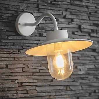 Garden Trading Swan Neck Exterior Wall  Light In Lily White