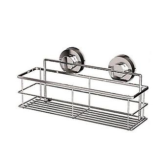 Suction Cup Stainless Steel Kitchen and Bathroom Storage Rack 30x8x8cm