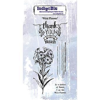 IndigoBlu Wild Flower Rubber Stamp