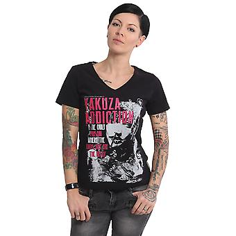 YAKUZA Women's T-Shirt Addiction V-Neck