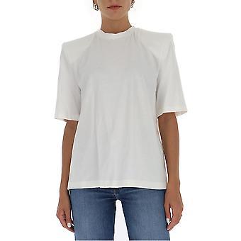 Attico 202wct04j001001 Damen's weiße Baumwolle T-shirt