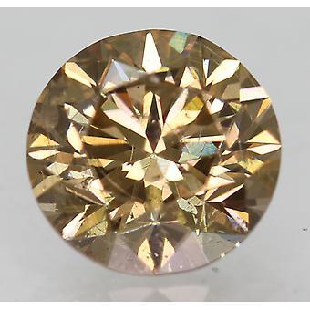 Cert 1.05 Ct Int Brown VS1 جولة رائعة المحسنة الماس الطبيعي 6.33mm 3VG