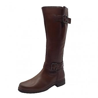 Gabor Nevada Leather Knee High Boots In Brown