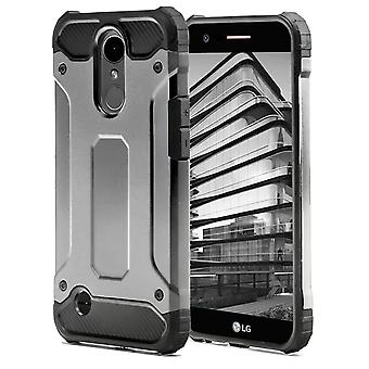 Shell for LG K10 (2017) Grey Armor Protection Case Hard