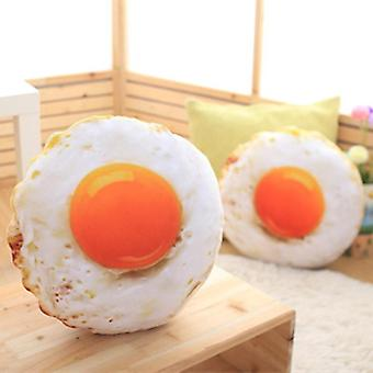 40cm الحرة الشحن محاكاة المحشوة القطن لينة المقلية البيض النوم وسادة أفخم مسلوق البيض الغذاء دمية (وسادة البيض)