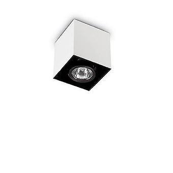 1 superficie quadrata leggera montata downlight Bianco, GU10