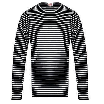 rustning lux mariniere langermet marine stripete t-skjorte