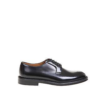 Doucal's Du1385sienuf007nn00 Men's Black Leather Lace-up Shoes