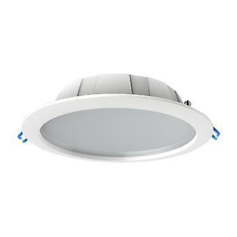 Okrągły panel downlight z diodą LED 23,5 cm, 24,5 W, 4000K, 2100lm, biały, wytnij 200 mm, IP44