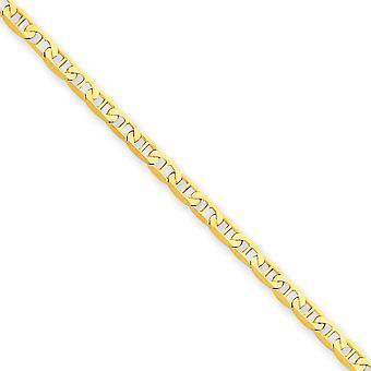 14k Ouro Amarelo Sólido Lagosta Fechamento de Garra de Lagosta Polida Navio Náutico Mariner Âncora Link Rodeminando Joias garra de lagosta