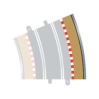 Radius 4 Curve Outer Borders 22.5° (Set Of 4) Scalextric Accessory Pack
