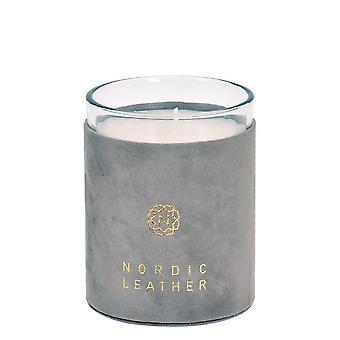 Geurkaars Nordic Leather Grey Rose