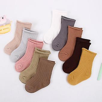 Bavlněné krátké žebrované ponožky