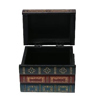 Wooden Book Box Decorative Storage Box for Girls Women Gifts S Size