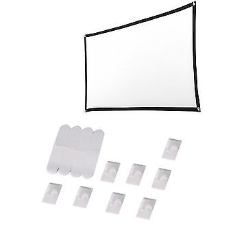 لينة 16: 9 عرض شاشة قماش 4k 3D العرض هد فيلم الشاشة في الهواء الطلق