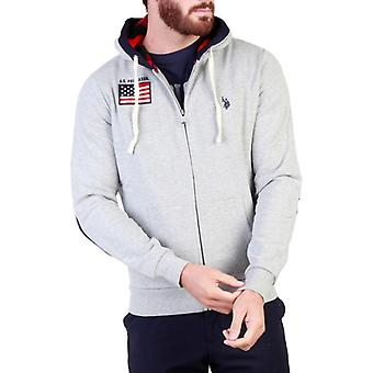Us polo assn. 43482 men's  front logo patches sweatshirt