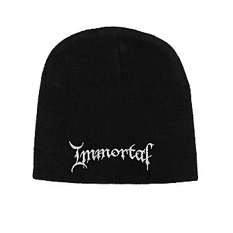Immortal Beanie Hat Cap Classic Band Logo Official New Black