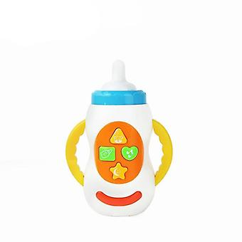 Led Flashing, Simulation Milk Bottle With Sound-toy For Baby