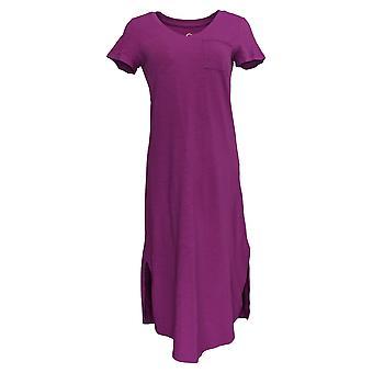 C. Wonder Dress (XXS) Essentials Slub Knit Midi Purple A289778
