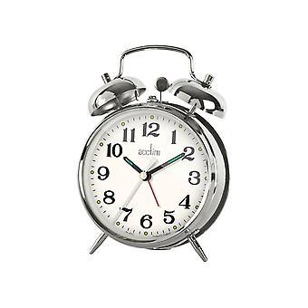 Acctim Selworth Mechanical Double Bell Alarm Chrome 15277