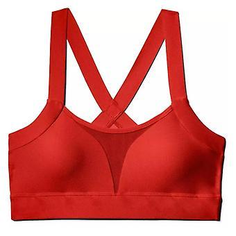 تحت درع منخفضة مبطن السيدات اللياقة البدنية تدريب الرياضة براليت الأحمر