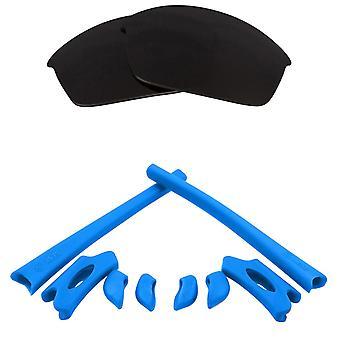 Polarizované náhradní čočky Kit pro Oakley Flak Jacket Black Blue Anti-Scratch Anti-Glare UV400 od SeekOptics