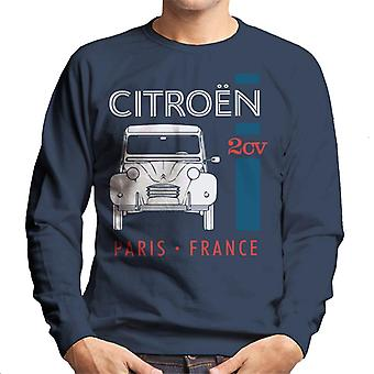 Citro?n White 2CV Paris France Single Stripe Men's Sweatshirt