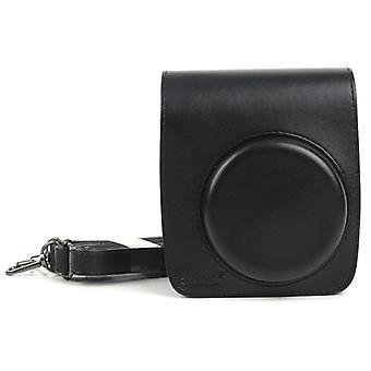 FUJIFILM Instax Mini 90 Kamera için PU Deri Kamera Koruyucu çanta, Ayarlanabilir Omuz Askılı (Siyah)