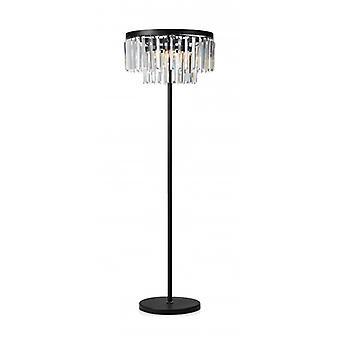 Ventimiglia Crystal Stehleuchte Schwarz 3 Glühbirnen