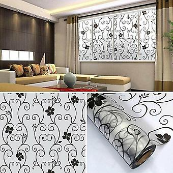 Self Adhesive Frosted Floral Pattern Removable Window Glass Sticker