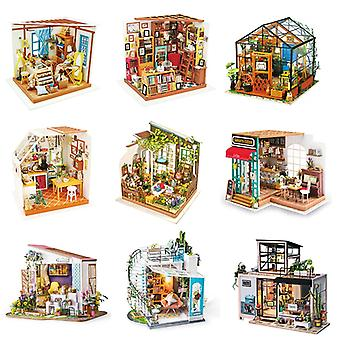 DIY Wooden Miniature Dollhouse 1:24 Handmade Doll House Model Building Kits Toys For Children Adult Drop Shipping