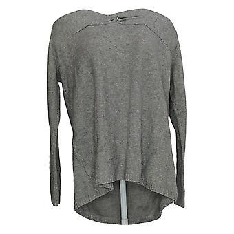 Du Jour mujeres's suéter de manga larga túnica nudo back detalle gris A347575